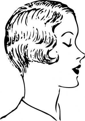 free vector Woman Fashion Haircut clip art