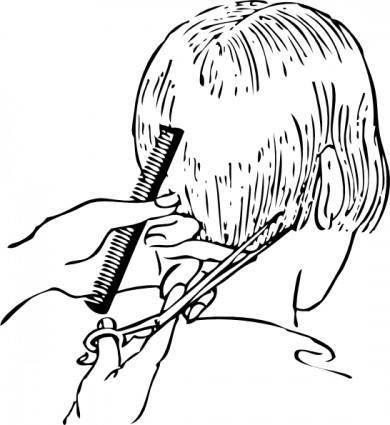 free vector Fashion Women Haircutting clip art