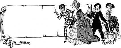 Drama Scroll clip art