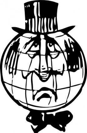 free vector Sad World clip art
