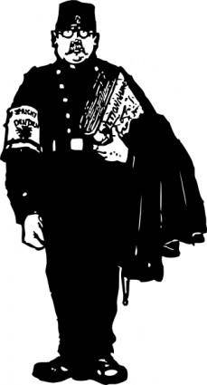 Gendarme With A Dictionary clip art