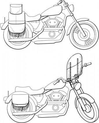 Motorcycle Windshield clip art