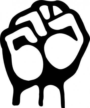 free vector Raised Fist clip art