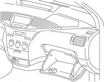 free vector Automobile Dashboard clip art