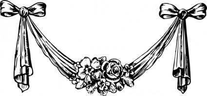 free vector Decorative Swag clip art
