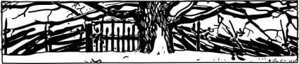 free vector Snowy Gate clip art