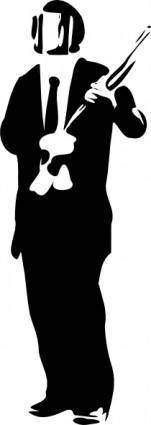 Suit In Riot Gear clip art
