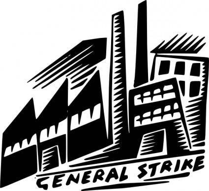 General Strike clip art