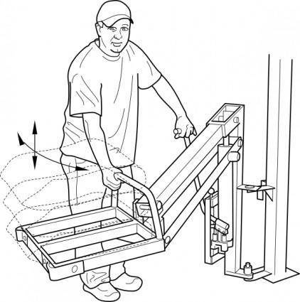 free vector Hydraulic Lift clip art