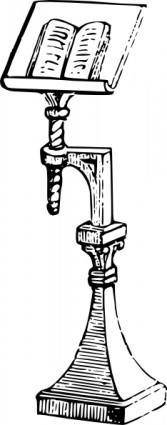 free vector Book Stand clip art