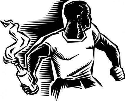 Person With Molotov Cocktail clip art