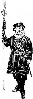 Yeoman Of The Guard Bw clip art
