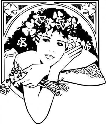 free vector St Patricks Girl clip art