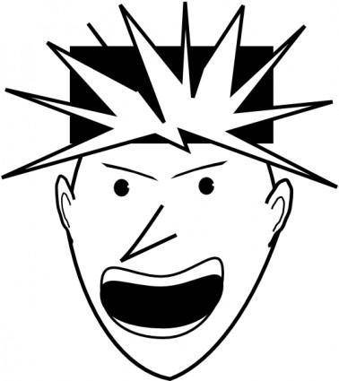 Angry Punk clip art
