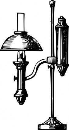 Antique Desk Electric Lamp clip art