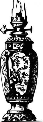 Antique Decorative Gas Lamp clip art