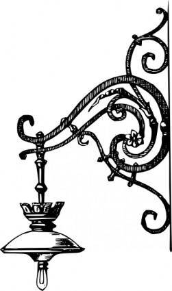 Antique Decorative Outdoor Electric Lamp clip art