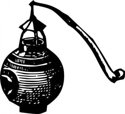 free vector Antique Outdoor Lantern clip art