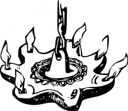 free vector Antique Chandelier clip art