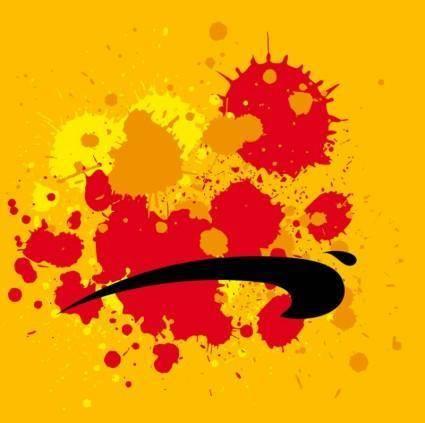 free vector Grunge Paint Splatters