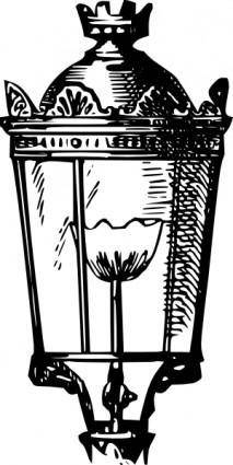 Antique Street Lantern clip art