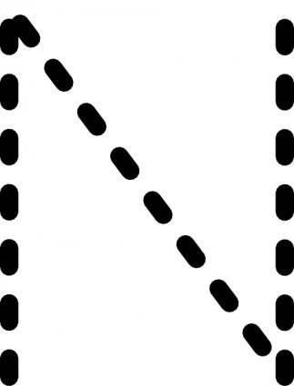 Alphabet Tracing Letter N clip art