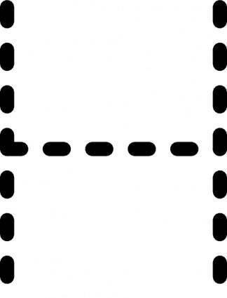 Alphabet Tracing Letter H clip art