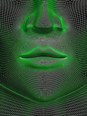 3d model of a face vector