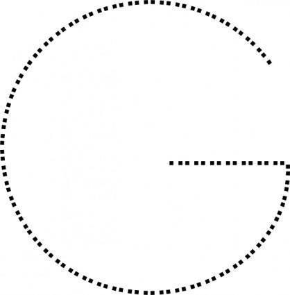 free vector Capital Letter G clip art