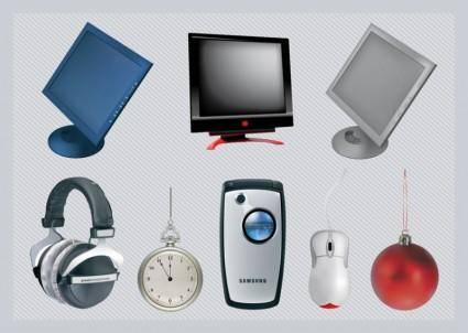free vector Free 3D Vector Technology Objects