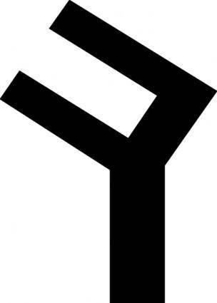 Old Turkic Letter K clip art