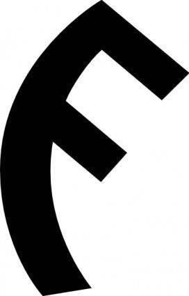 Old Turkic Letter G clip art