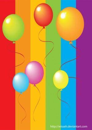 free vector Realistic Colorful Balloons