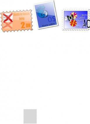 Mailing Stamps clip art