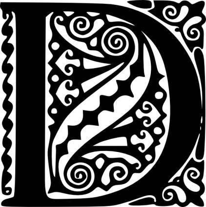 free vector Alphabet D clip art