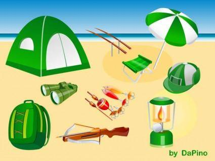 free vector Camping, Hunting and Fishing Vector Pack