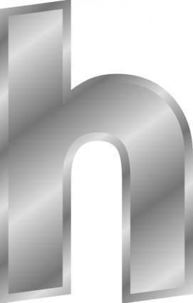 Silver Effect Letter H clip art