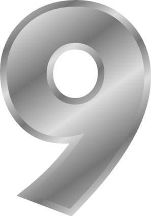 Effect Number 9 Silver clip art