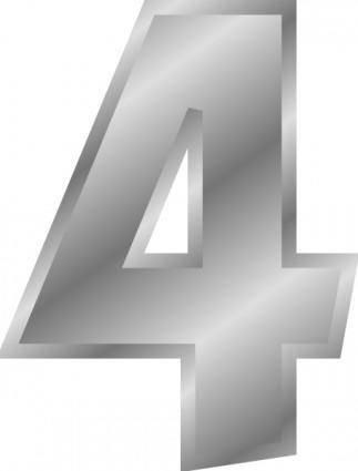 Effect Letters Alphabet Silver 4 clip art