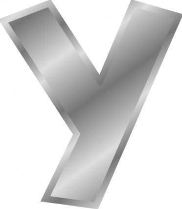 free vector Effect Letters Alphabet Y Silver clip art
