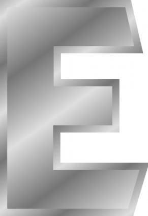 Effect Letters Alphabet Silver clip art