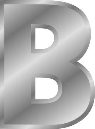 free vector Effect Letters Alphabet Silver B clip art