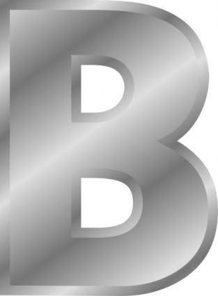 Effect Letters Alphabet Silver B clip art
