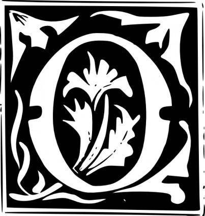 free vector Decorative Letter Set O clip art