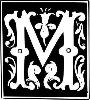 free vector Decorative Letter Set M clip art