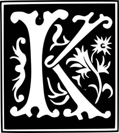 Decorative Letter Set clip art