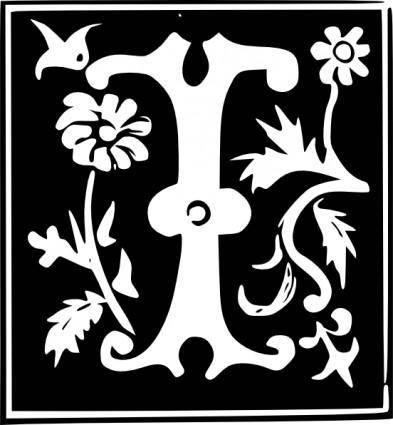 free vector Decorative Letter Set I clip art