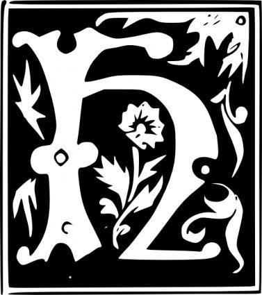 free vector Decorative Letter Set H clip art