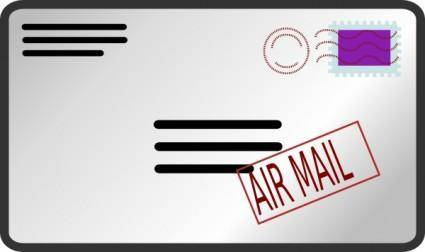 Air Mail Envelope clip art