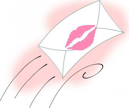 free vector Sealed With A Kiss clip art